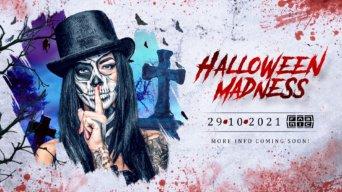 Halloween Madness EDM flyer