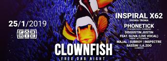 Clownfish Free DNB flyer