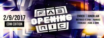 Opening Weekend EDM flyer