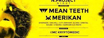 N.Project w Mean Teeth & Merikan flyer