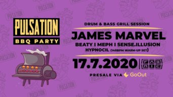 Drum & Bass BBQ Party w/ James Marvel flyer