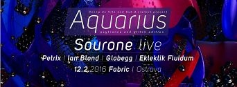 AQUARIUS: Psytrance / Glitch flyer