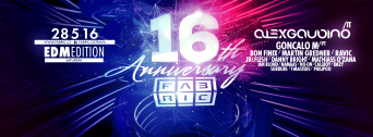 16th Anniversary of Fabric – HOUSE & TECHNO flyer