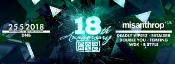 18th Anniversary w/ Misanthrop (DE) flyer
