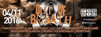 OUT OF BREATH flyer